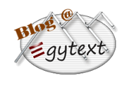 Blog @ Egytext - Der gyptenblog